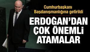 Feridun Hadi Sinirlioğlu Cumhurbaşkanı Başdanışmanlığına atandı
