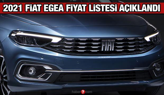 Fiat 2021 model Egea fiyat listesi yayınladı! Fiat Doblo Egea Fiorino 500 fiyat listesi