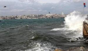 İstanbul'da şiddetli lodos! Seferler iptal oldu