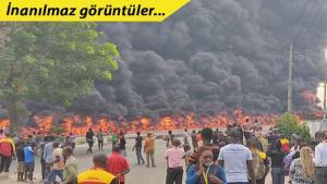Nijerya'da meydana gelen korkunç patlama anı kameralara böyle yansıdı