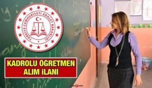 Öğretmen alım ilanı! Adalet Bakanlığı 2021 Kadrolu Öğretmen alımı başvuru şartları neler?