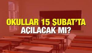 Okullar 15 Şubat ikinci dönem açılacak mı? MEB vaka sayısının az olduğu şehirler yüz yüze..