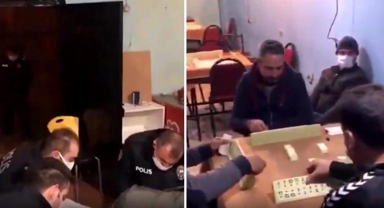Polisin Baskını Sonrasında Ceza Sırası Kendilerine Gelene Kadar Okey Oynamaya Devam Eden Yurdum İnsanları