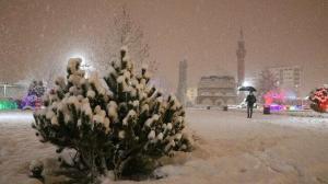 Sivas'a kar çok yakıştı