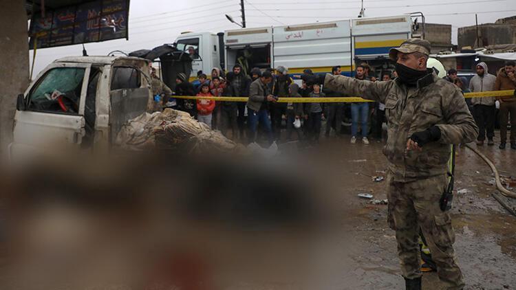 Suriye'nin Azez ilçesine terör saldırısı: 1 meyyit