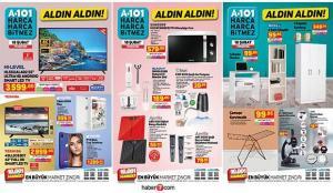 A101 18 Şubat aktüel ürünler kataloğu! Mobilya, elektronik, züccaciye, tekstil ve elektrikli…