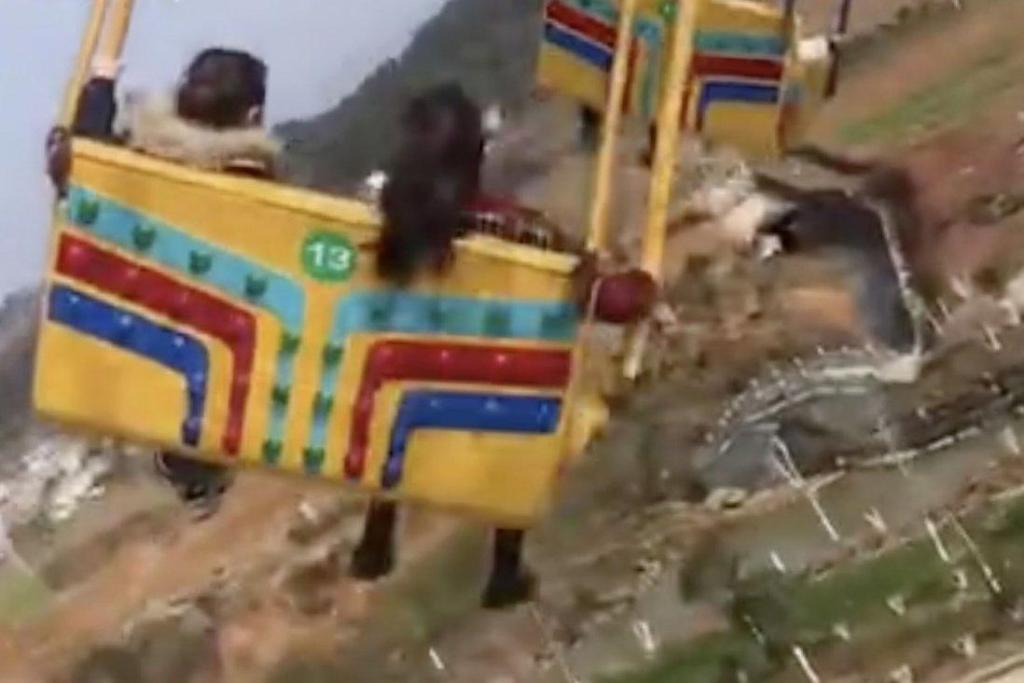 Çin'de Lunapark Kazası: Salıncaklar Yere Düştü, 16 Kişi Yaralandı