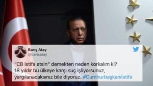 Erdoğan 'Yüreksizler' Demişti: Twitter Kullanıcıları #Cumhurbaşkanıİstifa Etiketini Başlattı