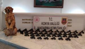 Konya'da silah kaçakçılığı operasyonu: 39 tabanca ele geçirildi, 5 şüpheli tutuklandı