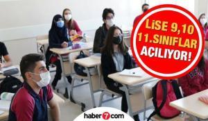 Liseler ne zaman açılacak? (9,10,11. sınıf) MEB'den yüz yüze eğitim kararı! 1 Mart'ta…