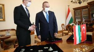 Macaristan'da ele geçirilen Türkiye'ye ait tarihi eserler Çavuşoğlu'na teslim edildi