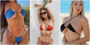 Seksapelin Dozu Artıyor, Kış Günlerinde Sıcaklığı Artıran Bikiniyi Ters Giyme Akımı Devam Ediyor