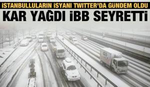 Twitter'da gündem oldu: Kar yağdı İBB seyretti