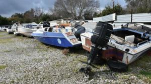 Yediemin otoparkı kaçak göçmenlerin tekneleriyle doldu: Üst üste konulacak