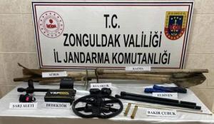 Zonguldak'ta kaçak kazı için keşif yaptıkları iddiasıyla 4 şüpheli gözaltına alındı