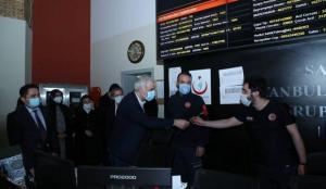 AK Parti İstanbul İl Başkanı Kabaktepe, 112 Komuta Kontrol Merkezini ziyaret etti