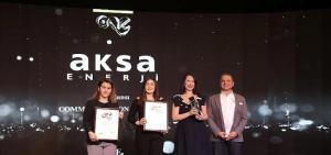 """Aksa Enerji, The One Awards'da """"Yılın En İtibarlısı"""" ödülünü kazandı"""