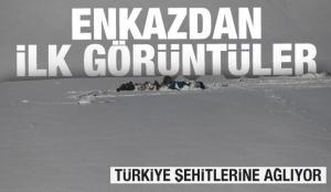 Bitlis'te düşen helikopterin enkazından ilk görüntüler