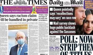 Buckingham Sarayı'nın Harry ve Meghan'a yanıtı İngiltere basınında