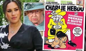 Charlie Hebdo'dan Tartışma Yaratan Kapak: Meghan Markle'ı George Floyd'a Benzettiler