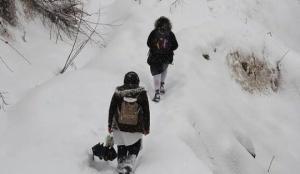 Denizli'nin Çameli ilçesinde eğitime kar engeli!