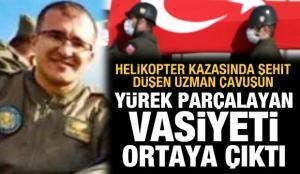 Helikopter kazası şehitlerinden Tolga Demirci'nin yürek parçalayan vasiyeti ortaya çıktı