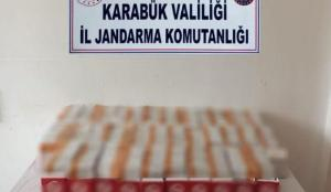 Karabük'te 6 bin 900 adet makaron ele geçirildi