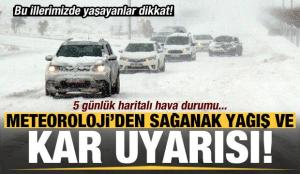 Meteoroloji'den son dakika kar yağışı ve sağanak uyarısı! İl İl haritalı hava durumu…
