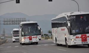 Otobüslerle yola çıkarıldılar: 215 JÖH personeli Suriye'ye gönderildi