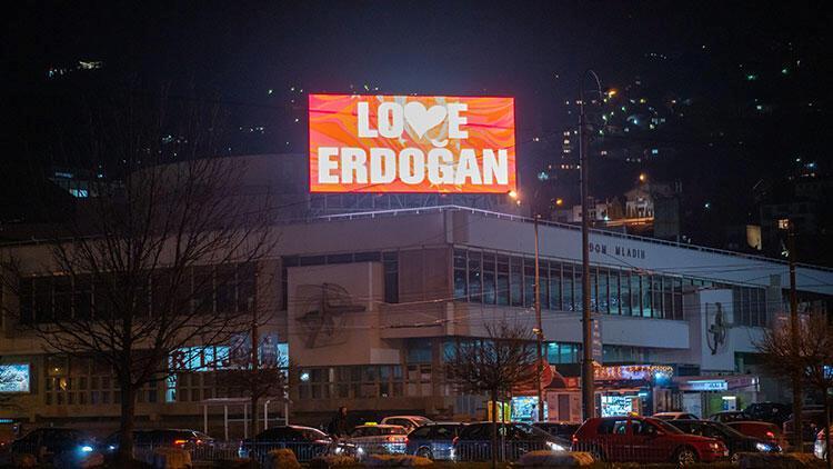Saraybosna'dan 'Love Erdoğan' iletisi