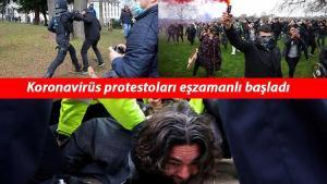 Son dakika: Avrupa sokakları karıştı! Kovid-19 protestolarına polis müdahale etti