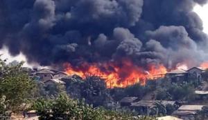Türkiye'den Arakanlı mültecilerin kaldığı kamptaki yangın için taziye mesajı