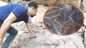 Son dakika… Mağarada 8 bin yıllık kaya resimleri bulundu