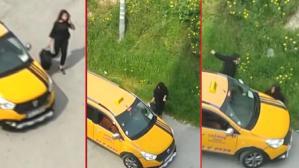 Taksicinin yol ortasında dehşeti yaşattığı kişi, kız kardeşi çıktı!
