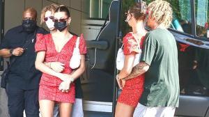 Justin Bieber'ın eşini paparazzilerden koruma çabası dikkat çekti