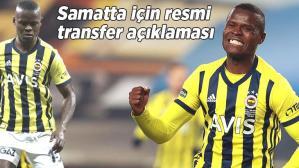 Son dakika Fenerbahçe haberi: Samatta için resmi transfer açıklaması! Ayrılık…