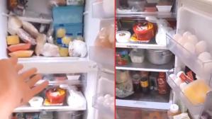 """Buzdolabını çekip """"Hani ekonomi kötüydü?"""" diyen TikTok kullanıcısı sosyal medyada gündem oldu"""