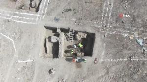 Kazıda ortaya çıkan seramik parçaları heyecan uyandırdı