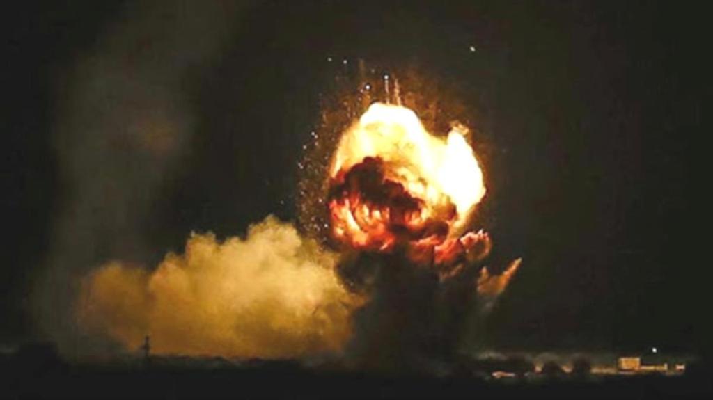 Suriye'de İran destekli grupların bulunduğu Meyadin'den, ABD'nin kontrolündeki petrol sahasına füze saldırısı