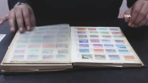 Tarihe yolculuk…Baba oğul 60 yılda bin 100 adet pul biriktirdi