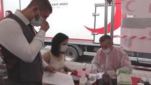 Vatandaşlardan kan bağışına yoğun ilgi