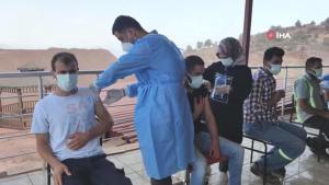 Amanos dağı eteklerinde aşı zorlu çalışmaları devam ediyor