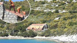 Karadan 45 dakika yürüyerek ulaşılan villa yıkıldı!