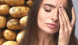 Patates göz ağrısına iyi gelir? Patatesin göze faydaları…