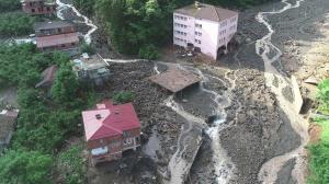 Rize'de sel riski altındaki 665 yapı için harekete geçildi