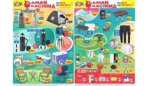 ŞOK 10 Temmuz Aktüel Kataloğu! Kamp çadırı, termos, kamp sandalyesi, piknik masası gibi ürünlerde..