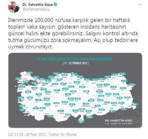 Vaka sayıları Ankara, İstanbul ve İzmir'de arttı