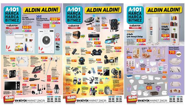 A101 5 Ağustos Aktüel Ürünler Kataloğu! Elektronik, züccaciye, oto aksesuar ve elektrikli ev aletlerinde