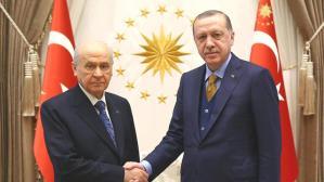 Cumhurbaşkanı Erdoğan, MHP lideri Bahçeli'yi evinde ziyaret etti