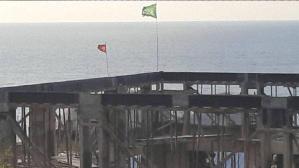 İşin aslı ortaya çıktı! Cami inşaatına asılan bayrakla ilgili soruşturma